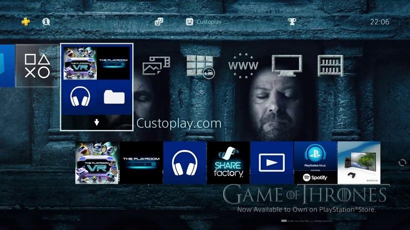 Tema de Game of Thrones na PSN