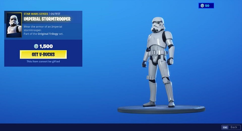 skin de Stormtrooper fortnite