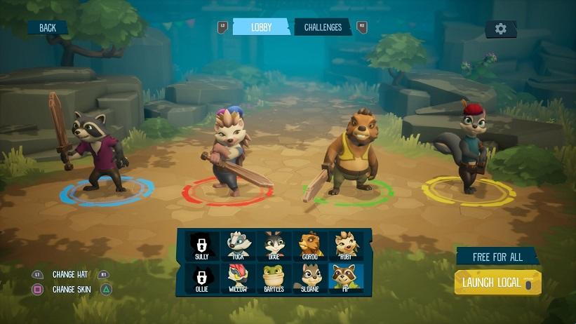ReadySet Heroes quatro jogadores