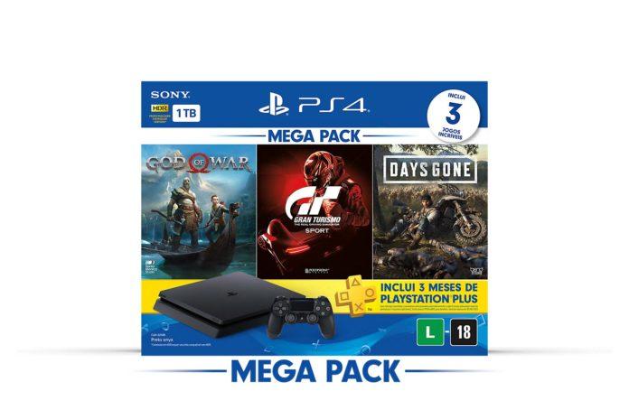 PlayStation lança novo bundle do PS4 com um Mega Pack