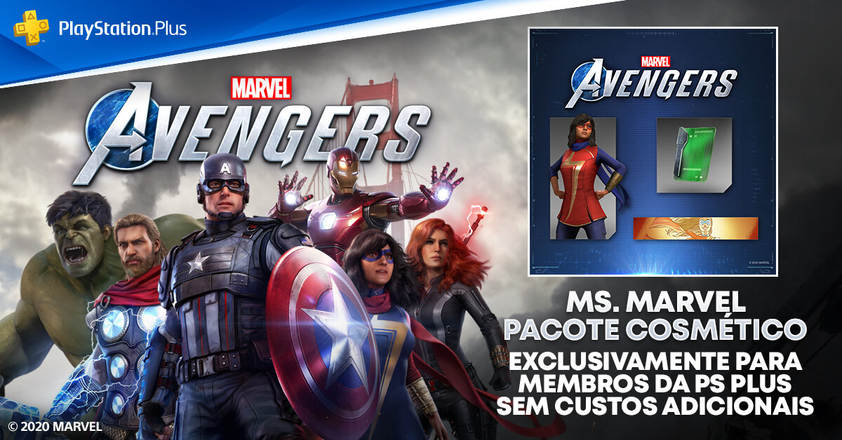 traje Campeã Desajeitada da Ms. Marvel