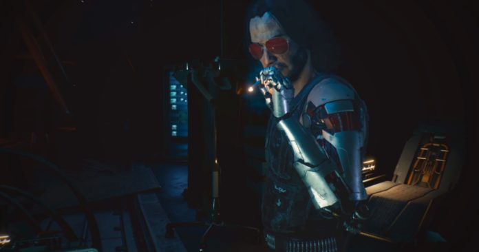 Johnny Silverhand de Keanu Reeves será jogável em Cyberpunk 2077