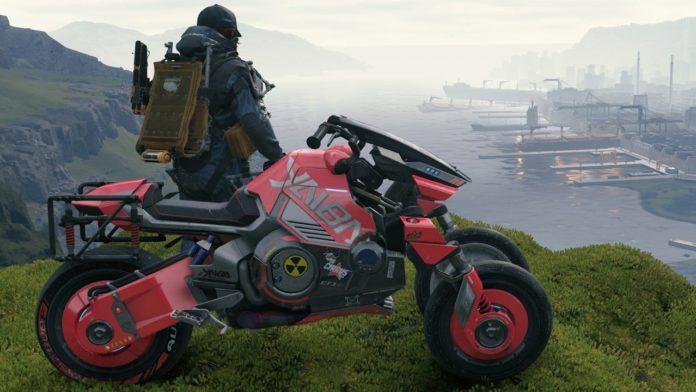 A atualização em Death Stranding que traz referências a Cyberpunk 2077 não está disponível no PS4