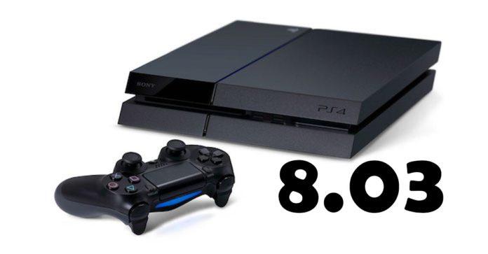 Atualização 8.03 para PS4