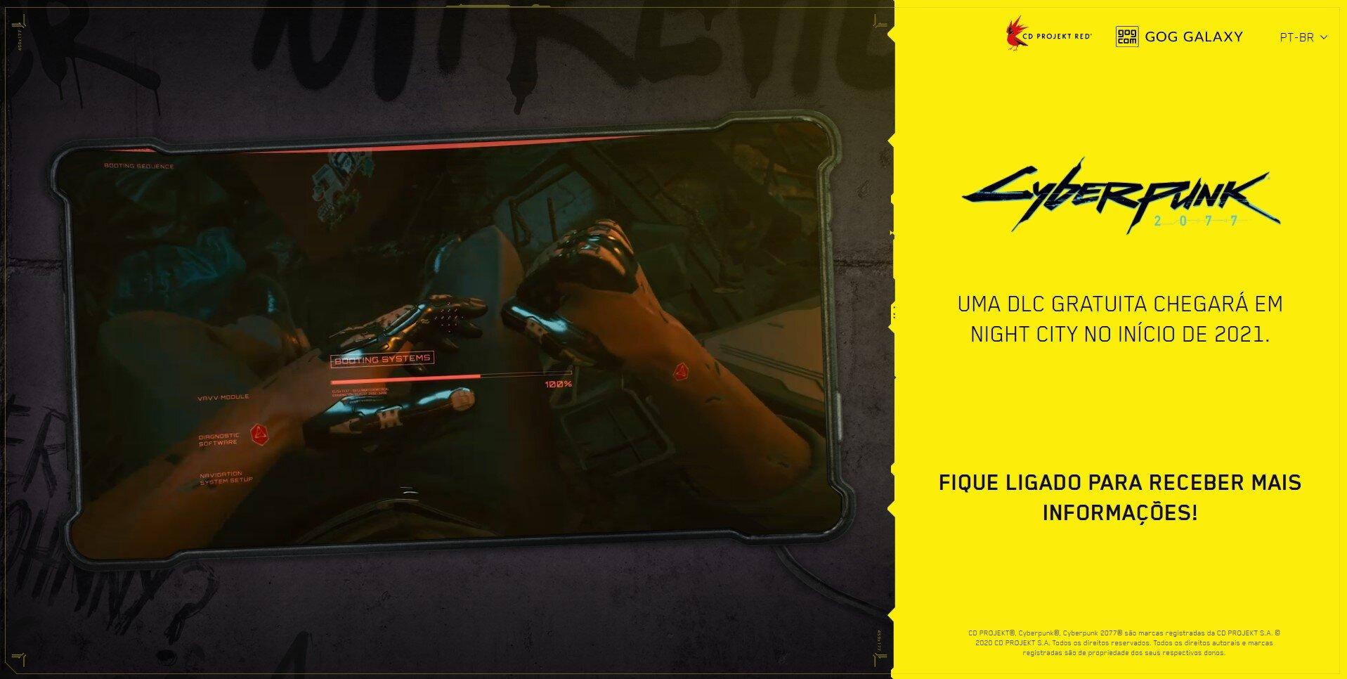 DLC de Cyberpunk 2077 no início de 2021
