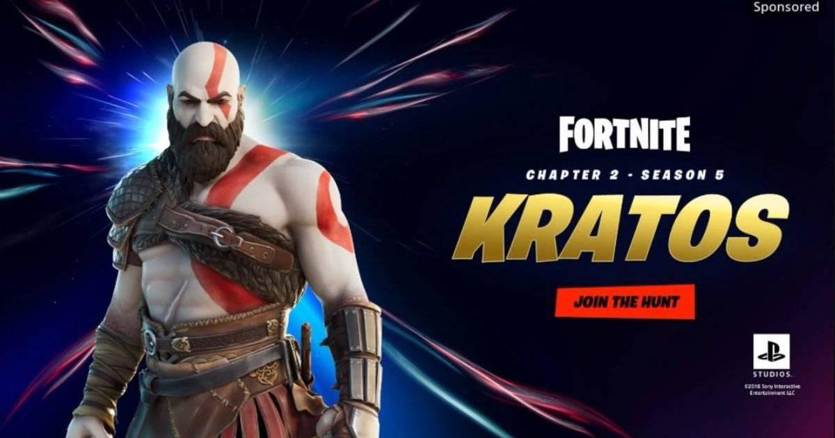 Skin de Kratos em Fortnite vaza antes da hora