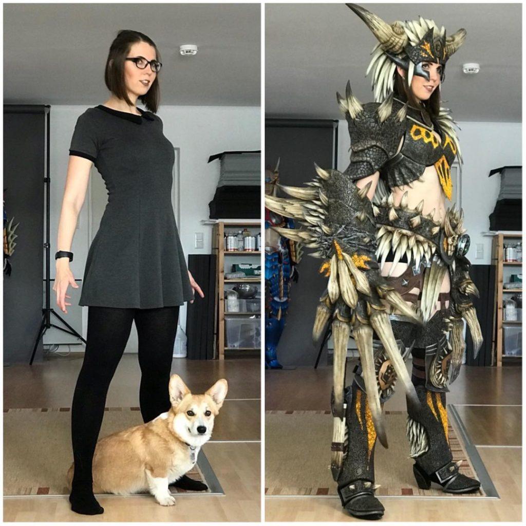 Artista faz cosplay inspirado no dragão Nergigante de Monster Hunter World