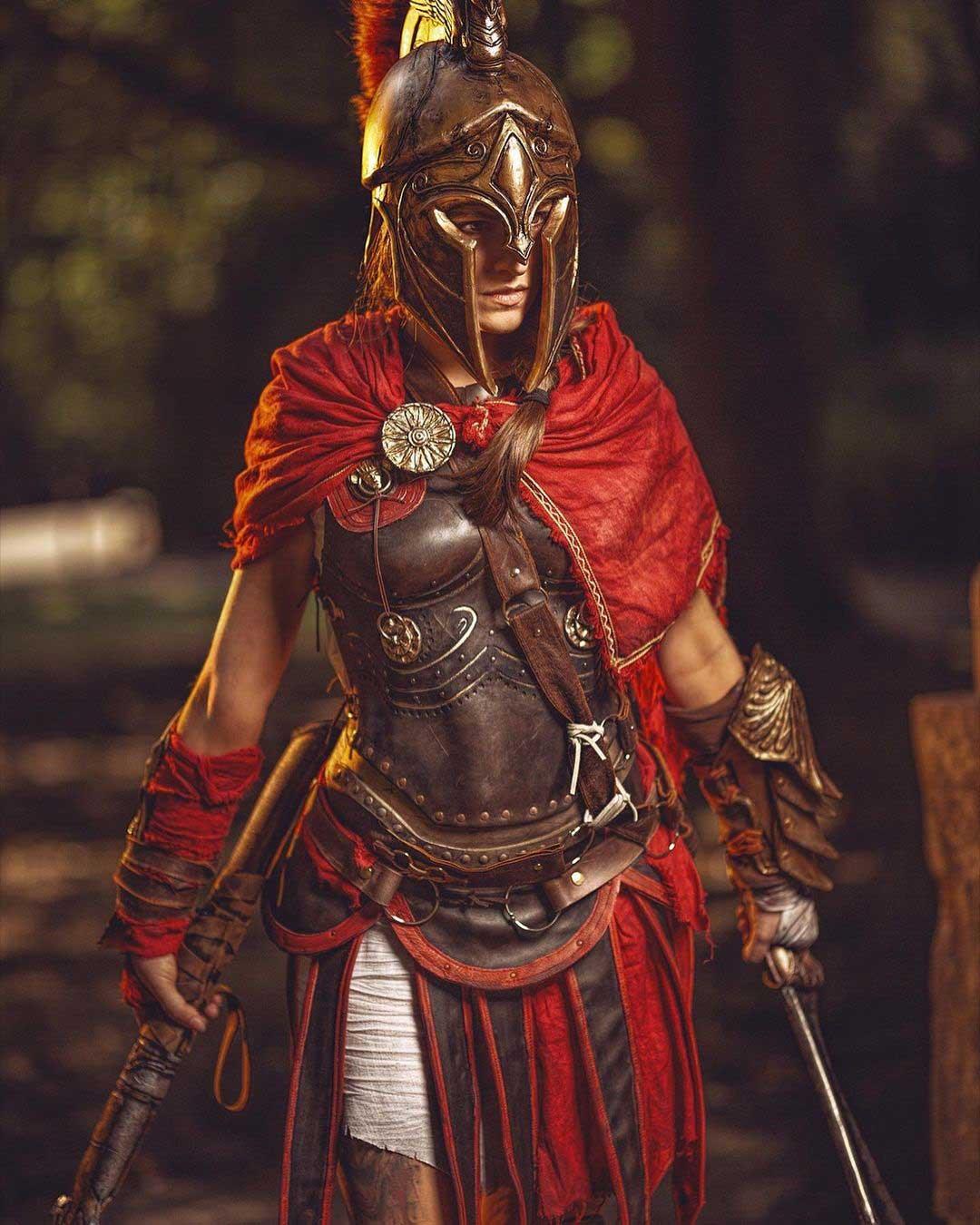 cosplay da Kassandra de Assassin's Creed Odyssey