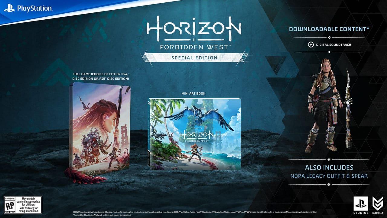 Pré-venda de edição especial com steelbook de Horizon Forbidden West